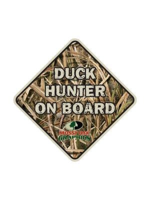 Duck Hunter on Board Decal