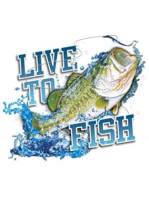 Live To Fish Bass Decal