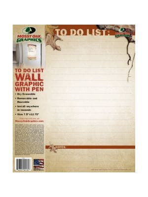 Mossy Oak Graphics Dry Erase - TO DO List