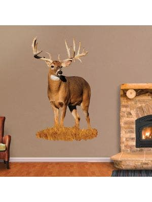 Whitetail Buck with Left Drop Tine - Cutout
