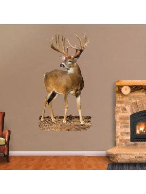 Whitetail Buck, Quartered to Front - Cutout