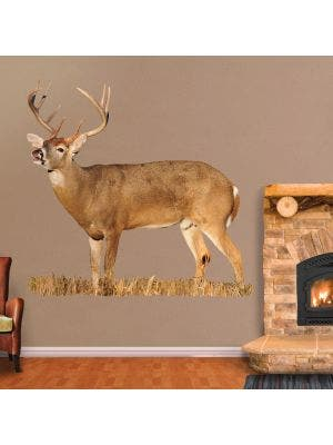 Whitetail Buck Lip Curling - Cut Out - Cut Out