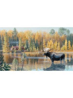 The Loner Moose Wall Graphic