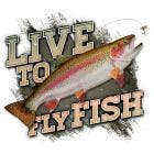 Live To Fish Rainbow Trout Decal