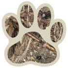 Camo Dog Paw Decal