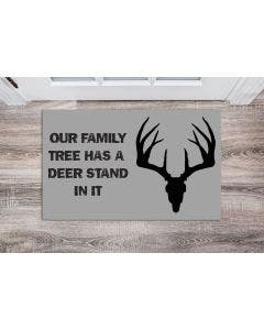 Our Family Tree Has A Deer Stand Door Mat
