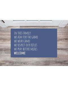Family Rules, Check The Deer Stand Doormats