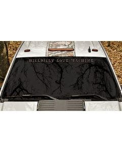 Hillbilly Love Machine Windshield Decal