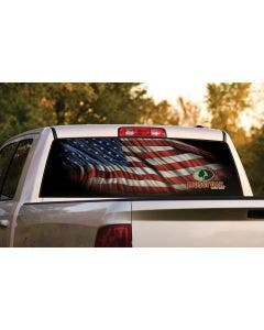 Window Graphic with Starry Night American Flag