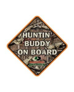 Huntin' Buddy on Board Decal
