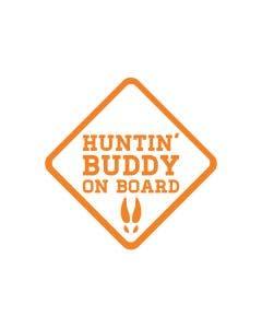 Huntin' Buddy on Board Orange Decal