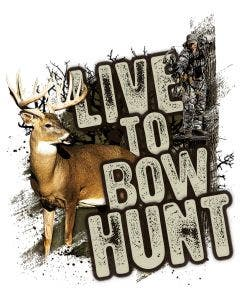 Live to Bowhunt Whitetail Decal