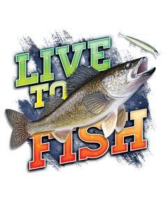 Live To Fish Walleye Decal