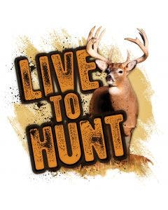 Live to Hunt Whitetail Decal