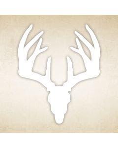 Whitetail Buck Skull Decal