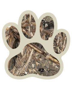 Camo Dog Paw Decal