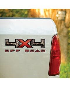 4X4 Red X Mossy Oak® Camo Decal