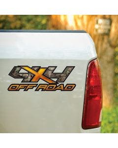 4X4 Orange X Mossy Oak® Camo Decal