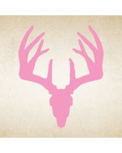 Pink Whitetail Buck Skull Decal