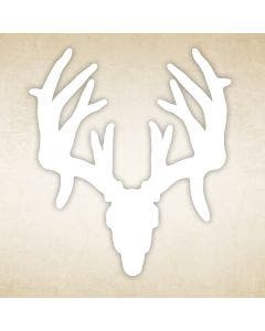Whitetail Buck Skull Decal - Non Typical