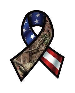 Support Our Troops Ribbon Decal - USA Decal - Mossy Oak® Break-Up Infinity Camo