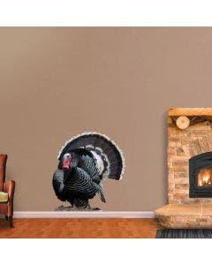Strutting Merriam Wild Turkey - Cutout