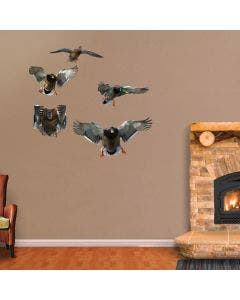 Mallard and Drake Flock - Cut Out Wall Graphic