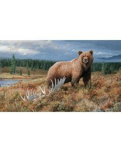 Autumn Splendor Bear Wall Graphic